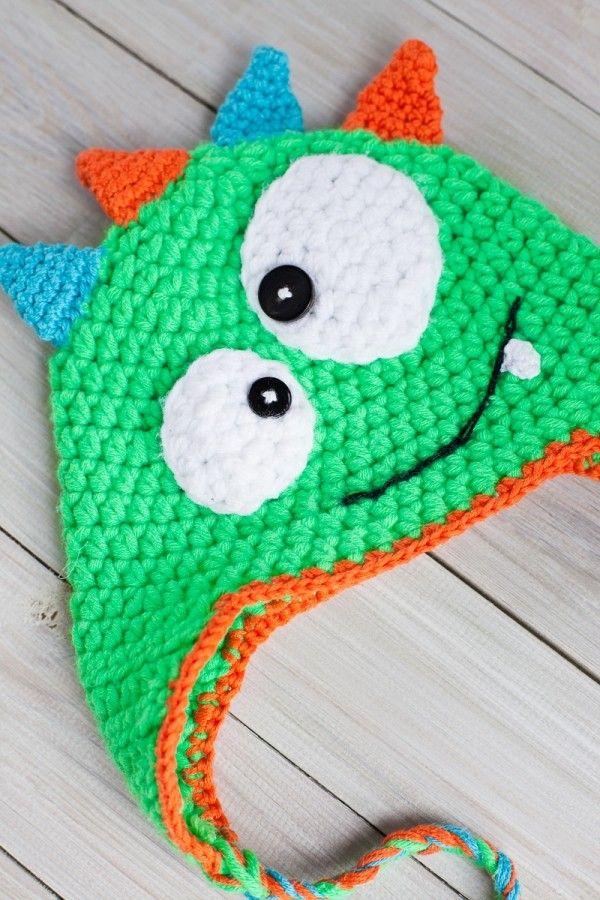 70ed3150665 ▷ Ellis monster hat crochet pattern Schachenmayr Baby Super Soft - YouTube