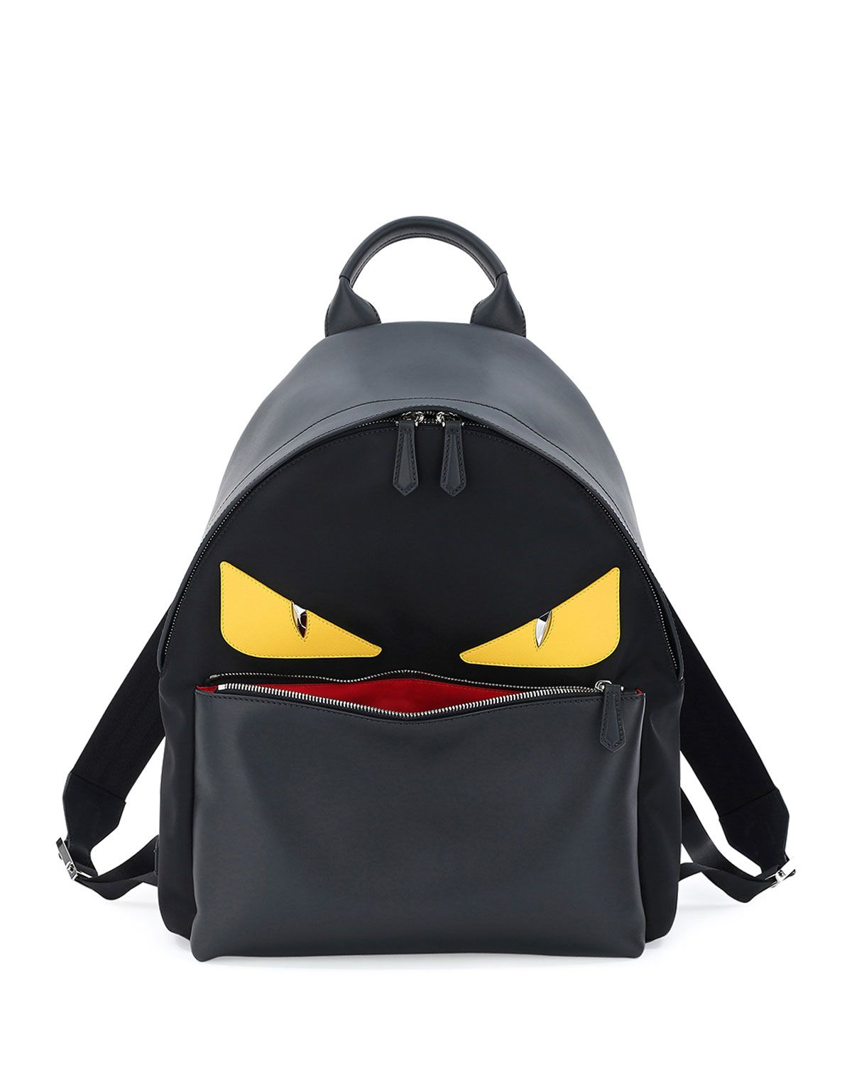 ab5aac74e3d9 Fendi Monster Eyes Leather Backpack
