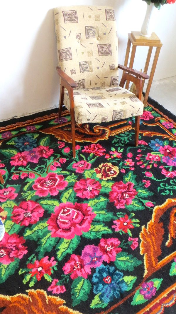 Rose Kilim Rugs Floral Kilim Carpet With Flowers Tapis Aux