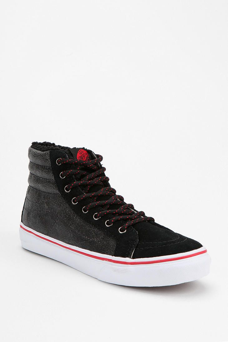 Vans Cracked Leather High Top Sneaker Shoes Pinterest