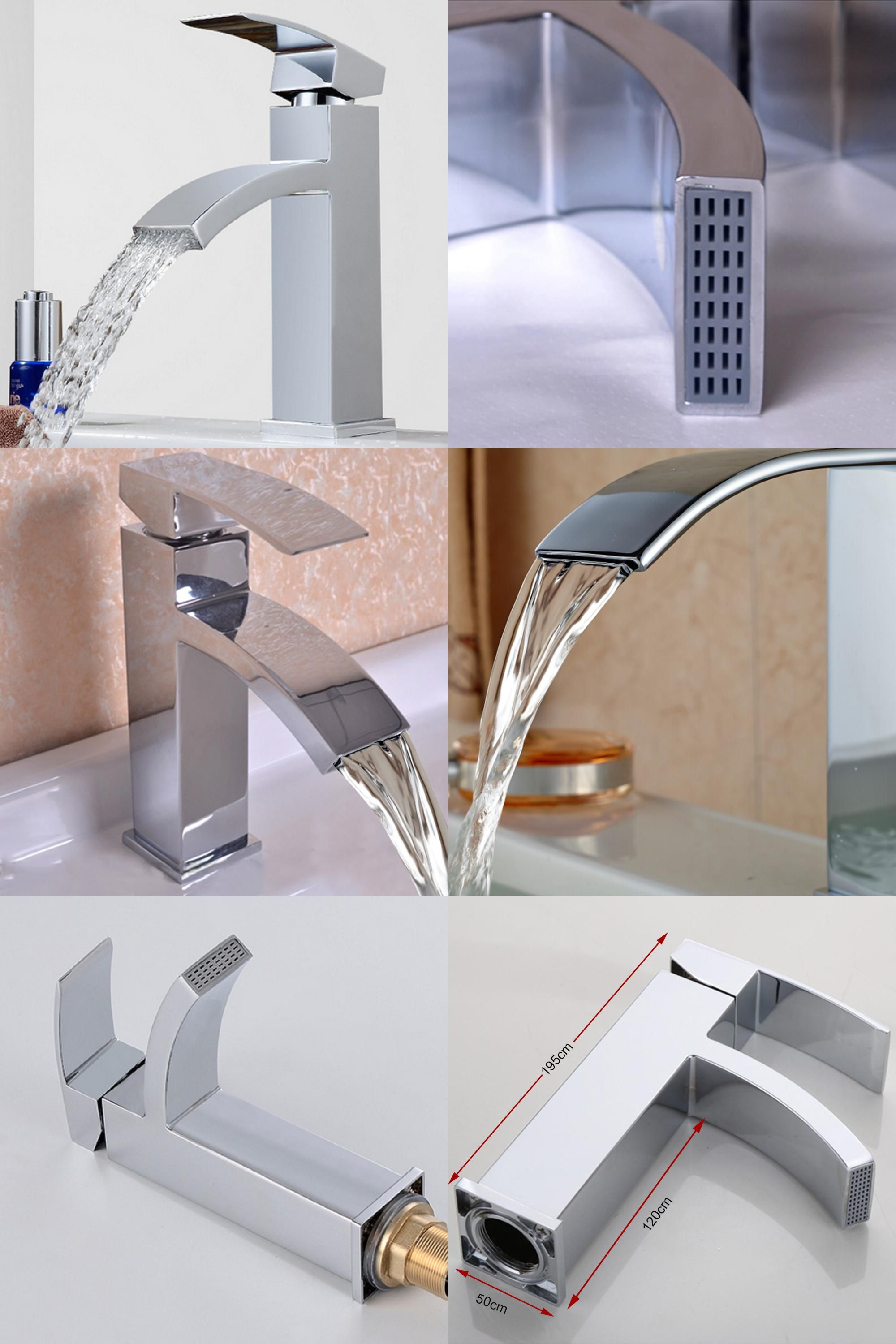 Visit To Buy Brass Bathroom Faucet Chrome Wide Waterfall Faucet