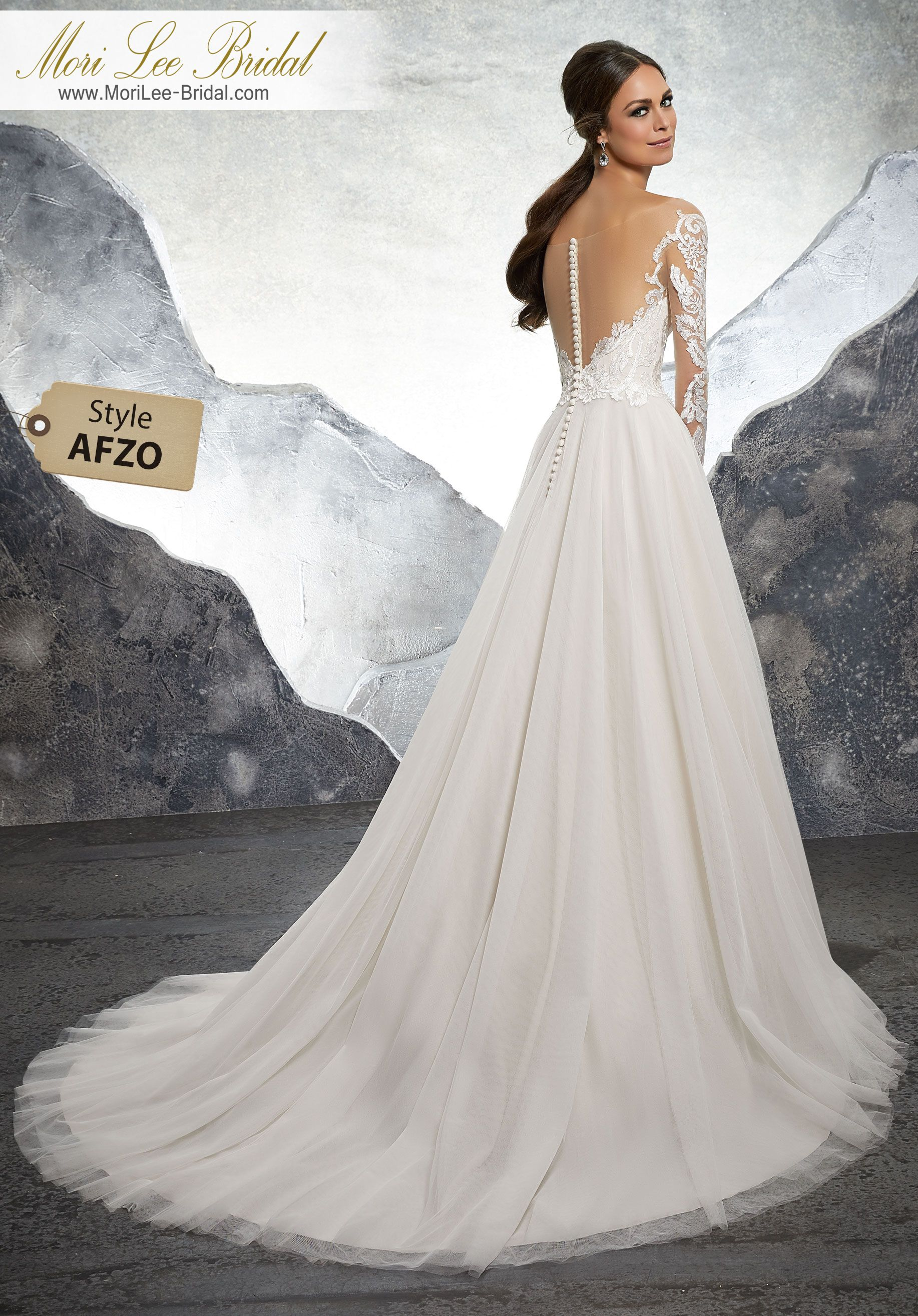 Style afzo kelsey wedding dress striking sculptured embroidery trims