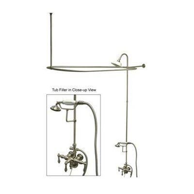 Elements Of Design Edk314 Vintage Package Clawfoot Tub And Shower Filler Tub And Shower Faucets Clawfoot Tub Shower Systems