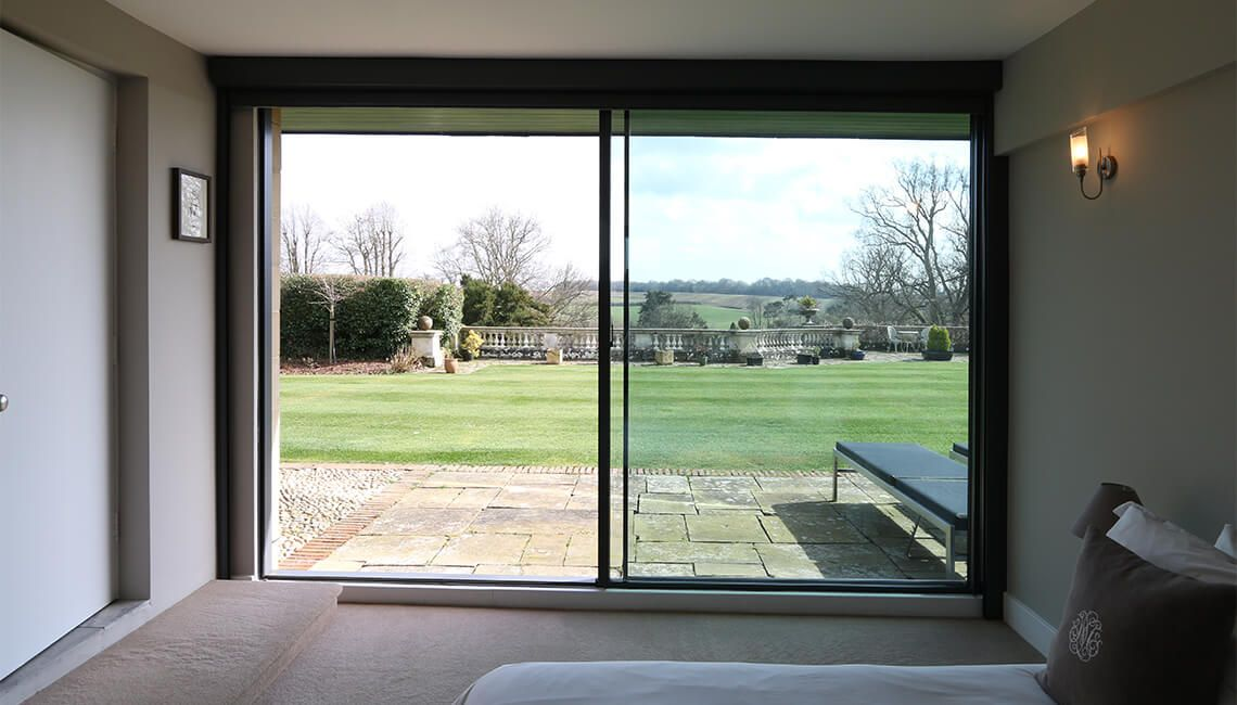 Dunloran House Thin Framed Sliding Glass Doors Windows Pinterest