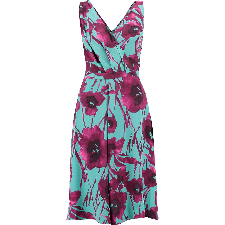 Edina Ronay Turquoise Purple Silk Print Dres Dresse Dress Paraphrase Jacket Tk Maxx