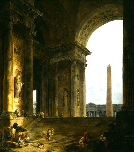 Hubert Robert, The Obelisk, 1787/88 on ArtStack #hubert-robert #art