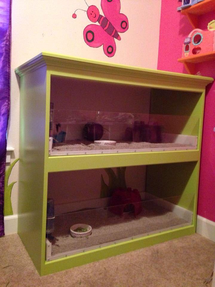 Diy Guinea Pig Cage Made From A Bookshelf Gerbil Cages
