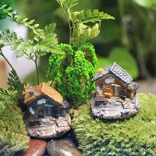 Casa de pedra Do Jardim de Fadas Artesanato Em Miniatura Micro Paisagem Enfeites…