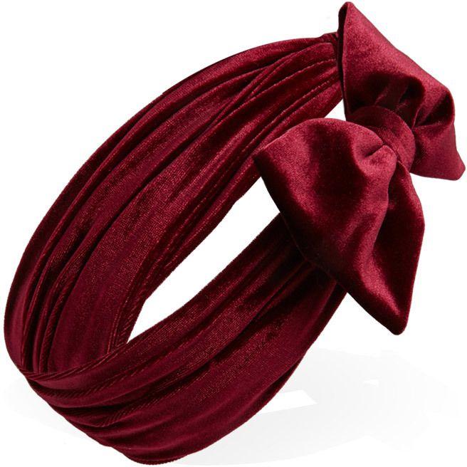 FOREVER 21 Velveteen Bow Headwrap