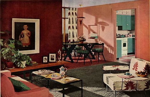 1950s house interior. 1950s Interior Design And Decorating Style  7 Major Trends William Pahlmann Via Retro Renovation