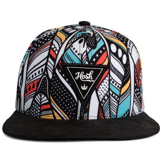 Boné Snapback Hosh Wear Feather Preto - Dep Store - DEP Store - Bonés 0f9673958b4
