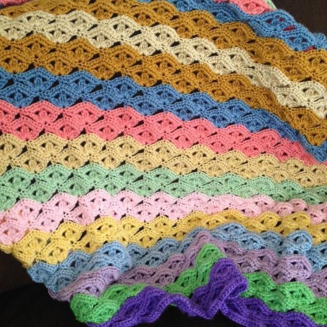 Free Pattern For Irish Wave Blanket Crochet Pinterest Free