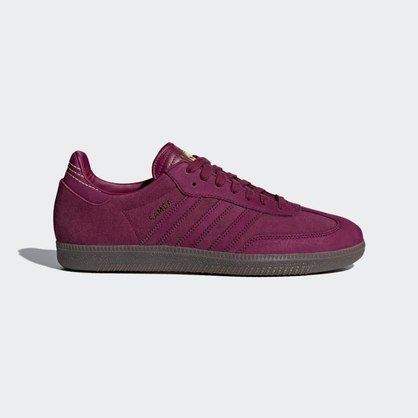 red adidas samba shoes