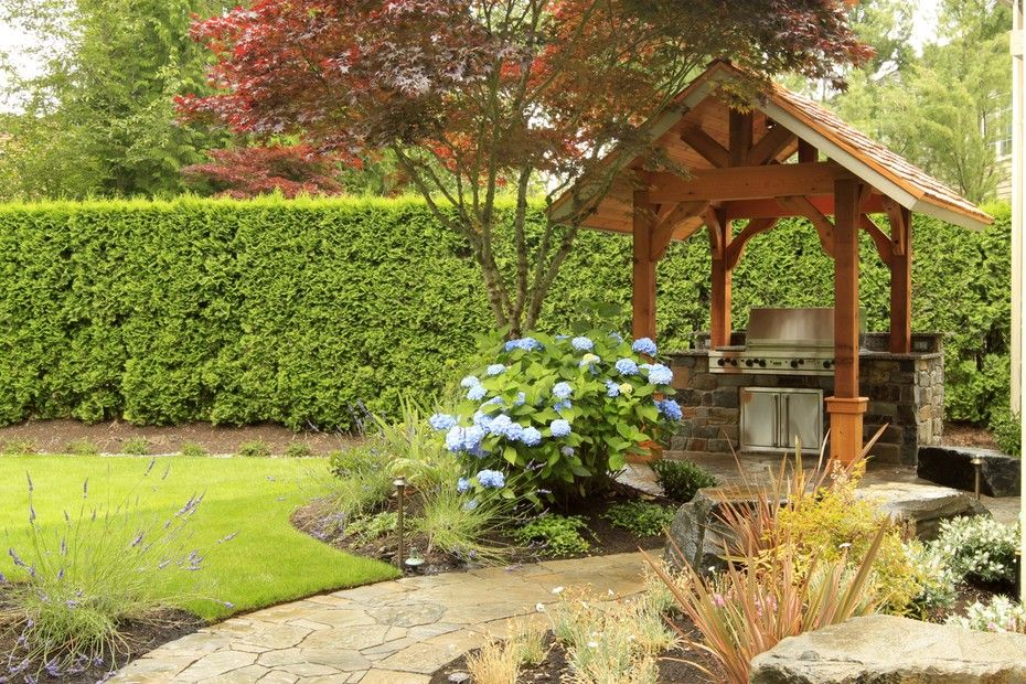 Lovely Landscaping And Covered BBQ At This Pacific Northwest Home. From 1  Of 8 Projects · Backyard IdeasGarden ...