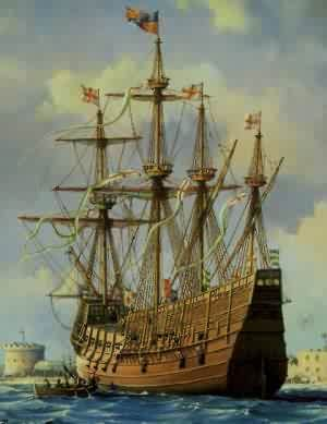The Mary Rose, the pride of Henry VIII's battle fleet, sank in the Solent with the loss of 700 lives, on this day 19th July, 1545. The ship was raised on 11th October 1982 to be taken to Portsmouth Dockyard, where it can now be seen in the museum