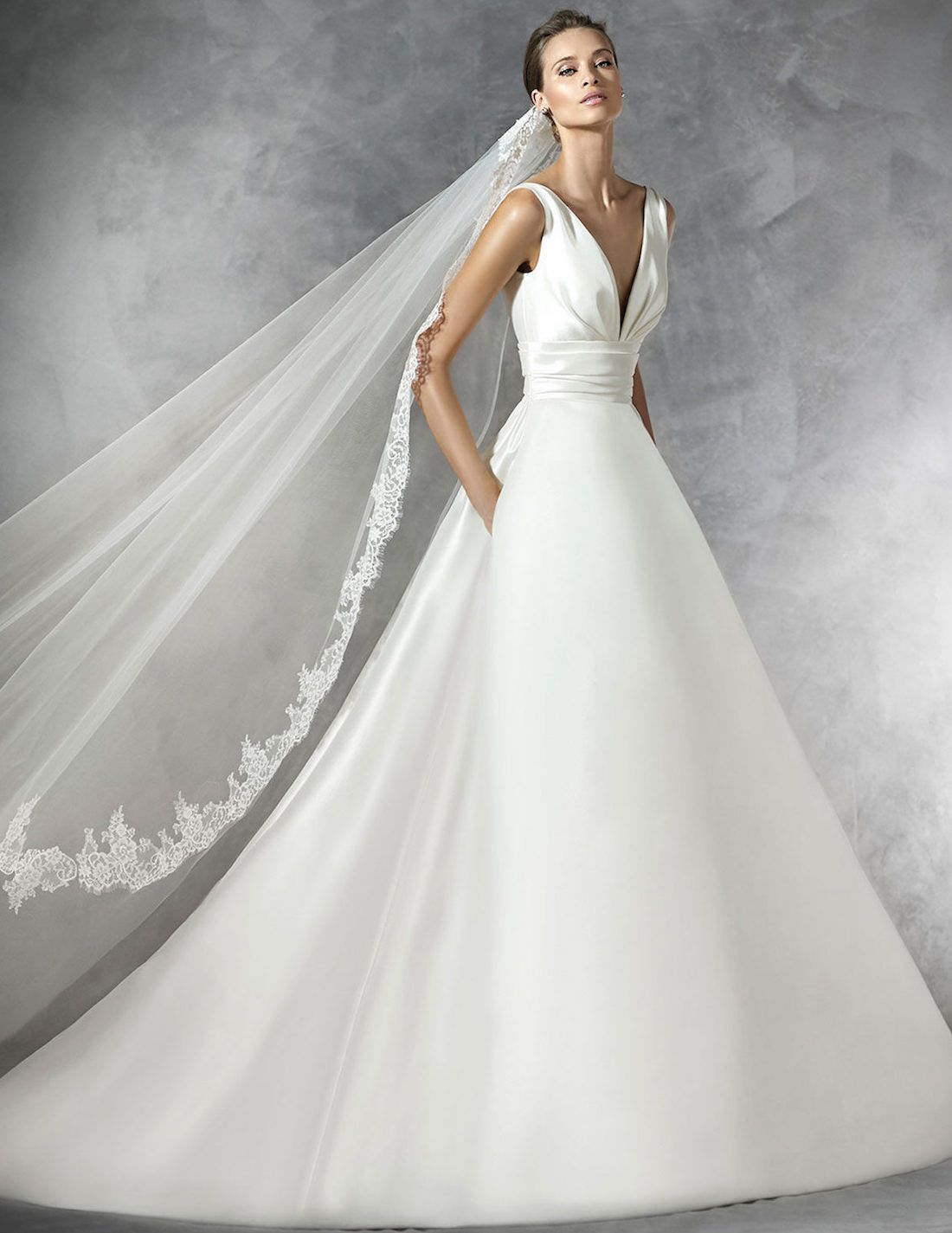 Simple and elegant, this Pronovias Plaza Wedding Gown proves that ...