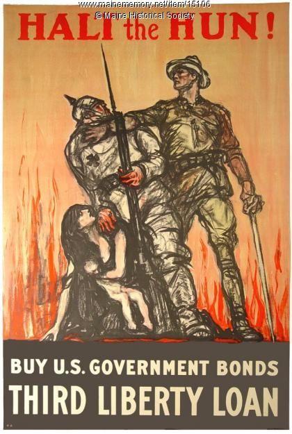 Halt The Hun World War 1 Poster 1918 Propaganda Posters Ww1
