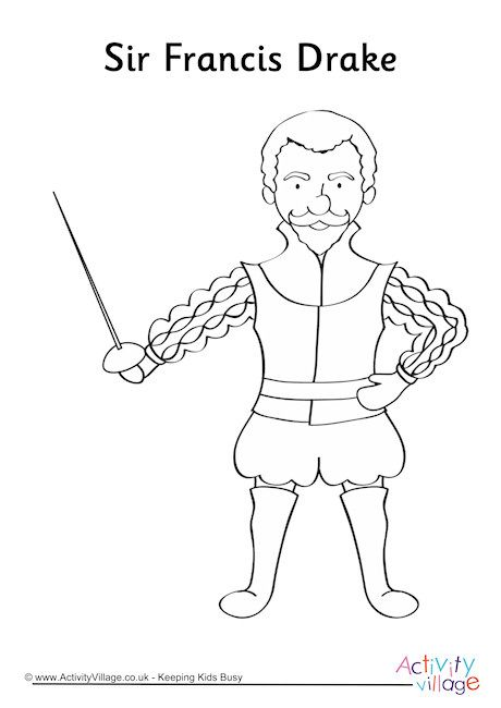 Francis Drake Colouring Page Pirate Activities
