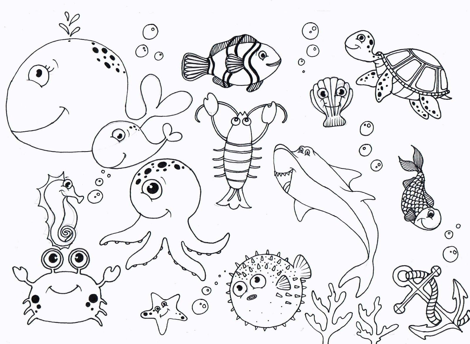 uner the sea coloring pages - photo#32