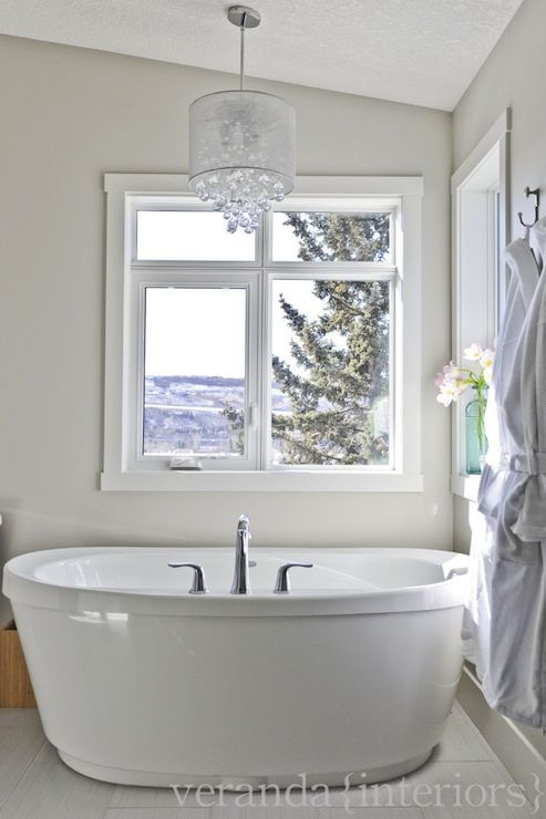 Modern Bathroom Chandeliers crystal chandelier over tub, contemporary, bathroom, veranda