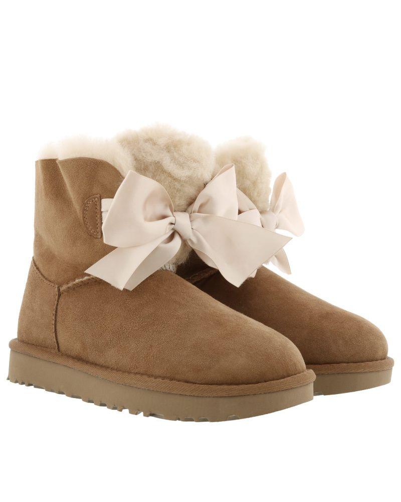 UGG Damen W Gita Bow Mini Chestnut Schuhe | Uggs, Damen