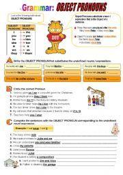 English Exercises: OBJECT PRONOUNS