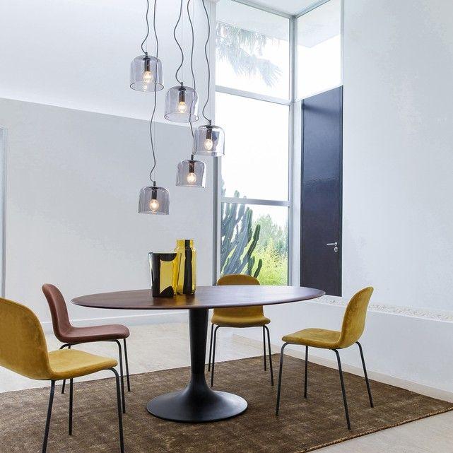 Image Hisia Ellipse Shape Solid Walnut Table Top AMPM Coates