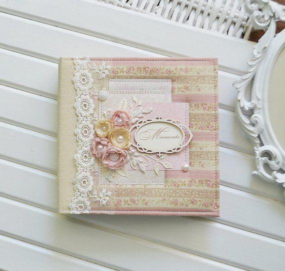 Shabby Chic Baby Memory Book For Girl, Bohemian Baby
