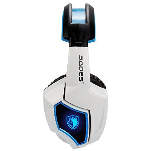 264e52b64fd New Updated SADES Spirit Wolf 7.1 Surround Stereo Sound USB Computer Gaming  Headset with Microphone,Over-the-Ear Noise Isolating,Breathing LED Light  For PC ...