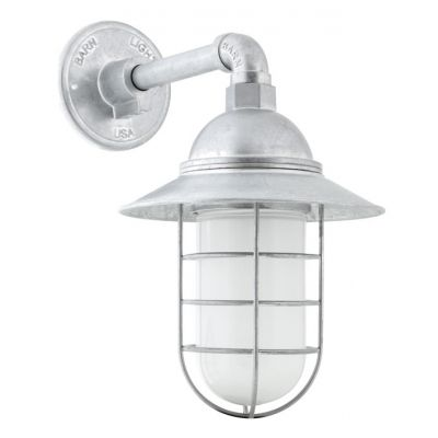 Wire Guard Sconce | Industrial Wall Light, Rustic Marine ...