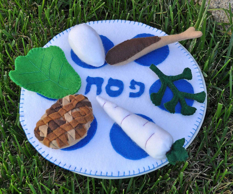 Felt food passover seder plate afikoman set and wine and cups felt food passover seder plate afikoman set and wine and cups from the felted buycottarizona