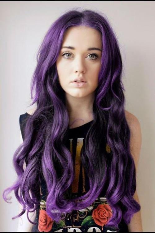 Dunkle haarfarbe mit lila stich - Beliebte Frisuren 2020