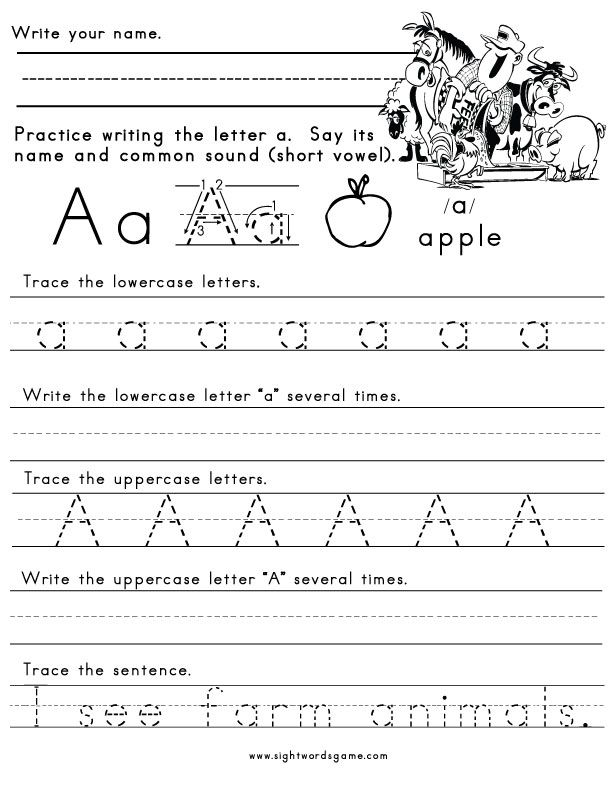 Writing Alphabet Letters Worksheets - JcarlospintoWriting Practice Worksheets And Kindergarten On Pinterest