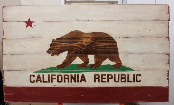 Large California State Flag Planked Wood Wall Art Distressed Ca Stat Flag Ready To Ship Wood Wall Art Wood Flag Flag Painting