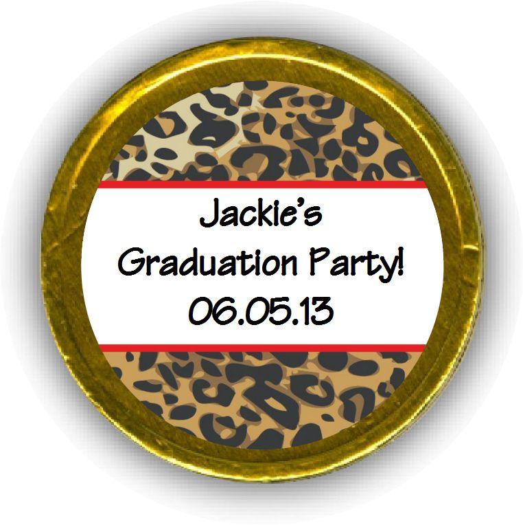 Leopard Graduation Chocolate Coins