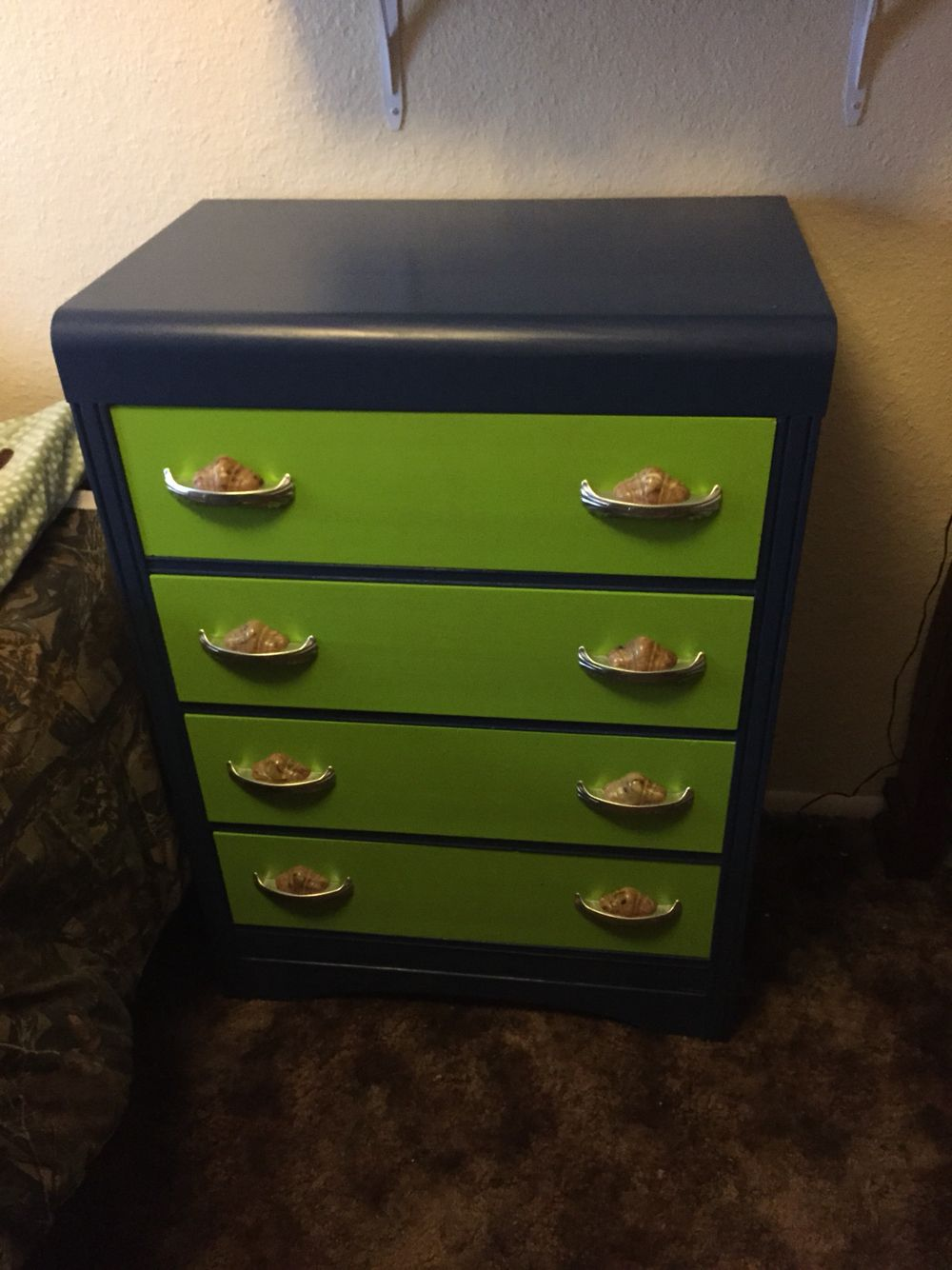 Art Deco dresser repainted Seahawks colors | Just because ...