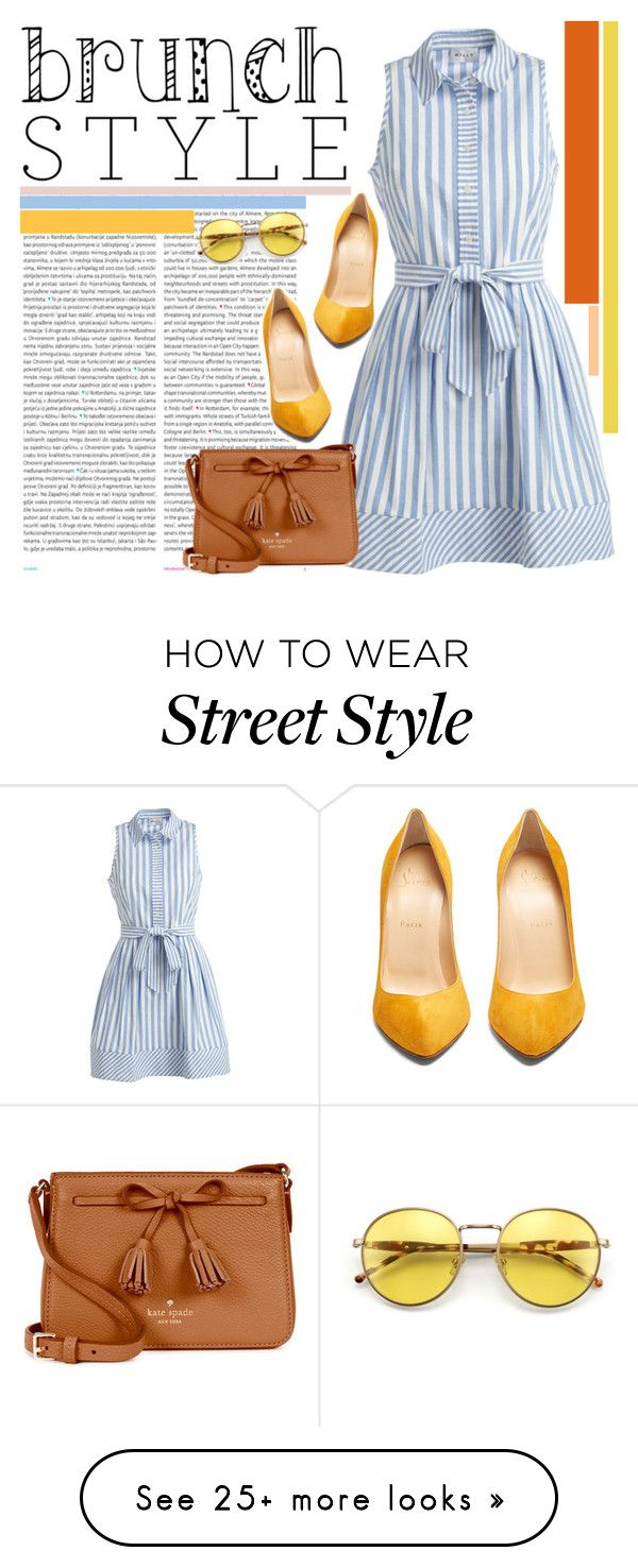 """""""brunch goals"""" by cherrymoonlight on Polyvore featuring Oris, Milly, Christian Louboutin, Kate Spade, Wildfox and brunchgoals"""