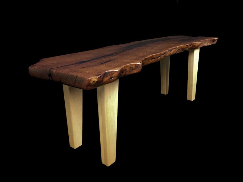 Live Edge Mesquite Slab Coffee Table Bench Available Now 67000