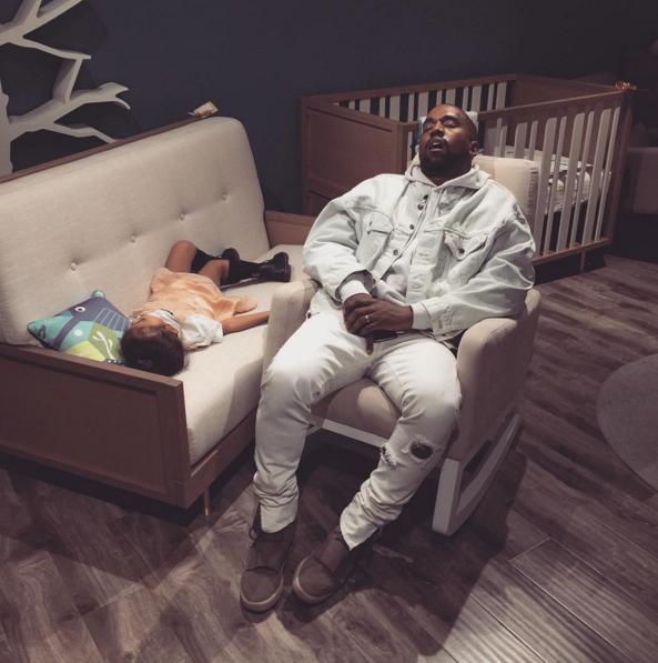 Nap Time Is For Everyone Kim Kardashian And Kanye Kim And Kanye Kanye West North West