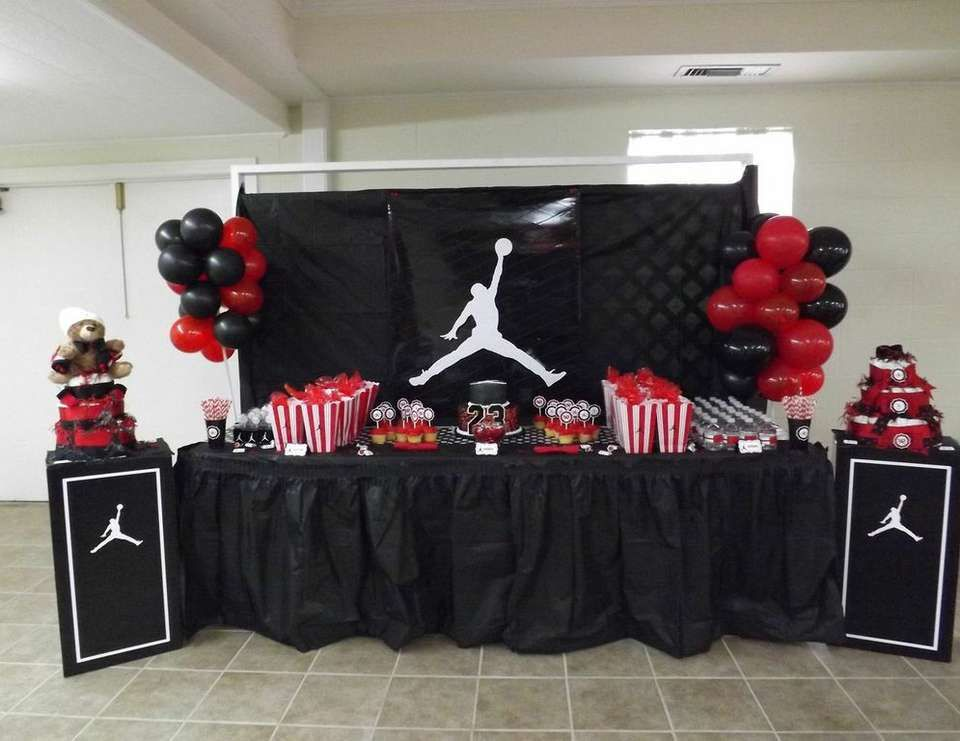 """Jumpman Inspired / Baby Shower """"Welcome Baby Axton"""