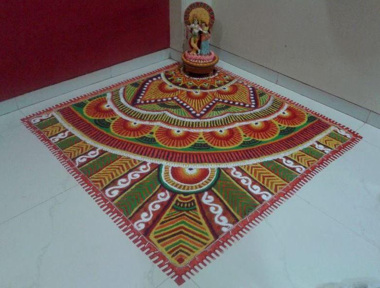 Image result for rangoli for diwali in corner