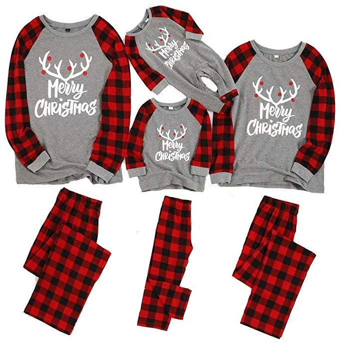 Family Match Christmas Tops Mother and Daughter Cute Reindeer Long Sleeve Shirts