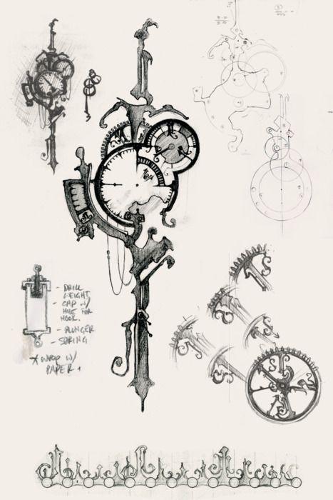 Eric Freitas Tumblr Steampunk Tattoo Clock Tattoo Design Steampunk Crafts