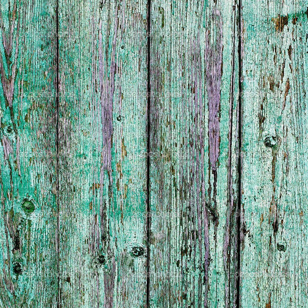 Vintage Turquoise Wood