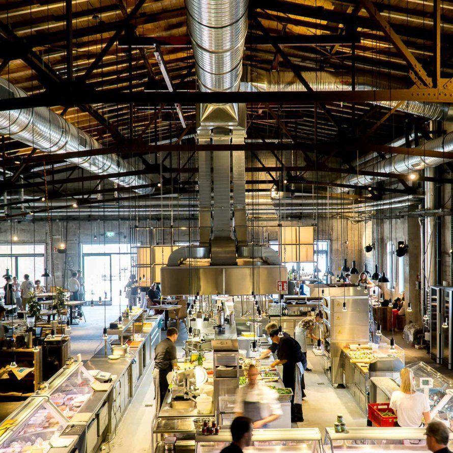 Markthalle und Restaurant Hobenköök in der HafenCity