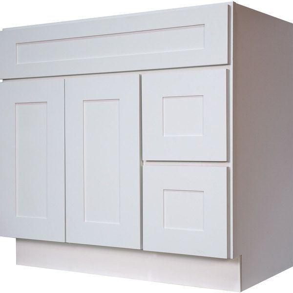 36 Inch White Bathroom Vanities everyday cabinets white shaker 36-inch single-sink bathroom vanity