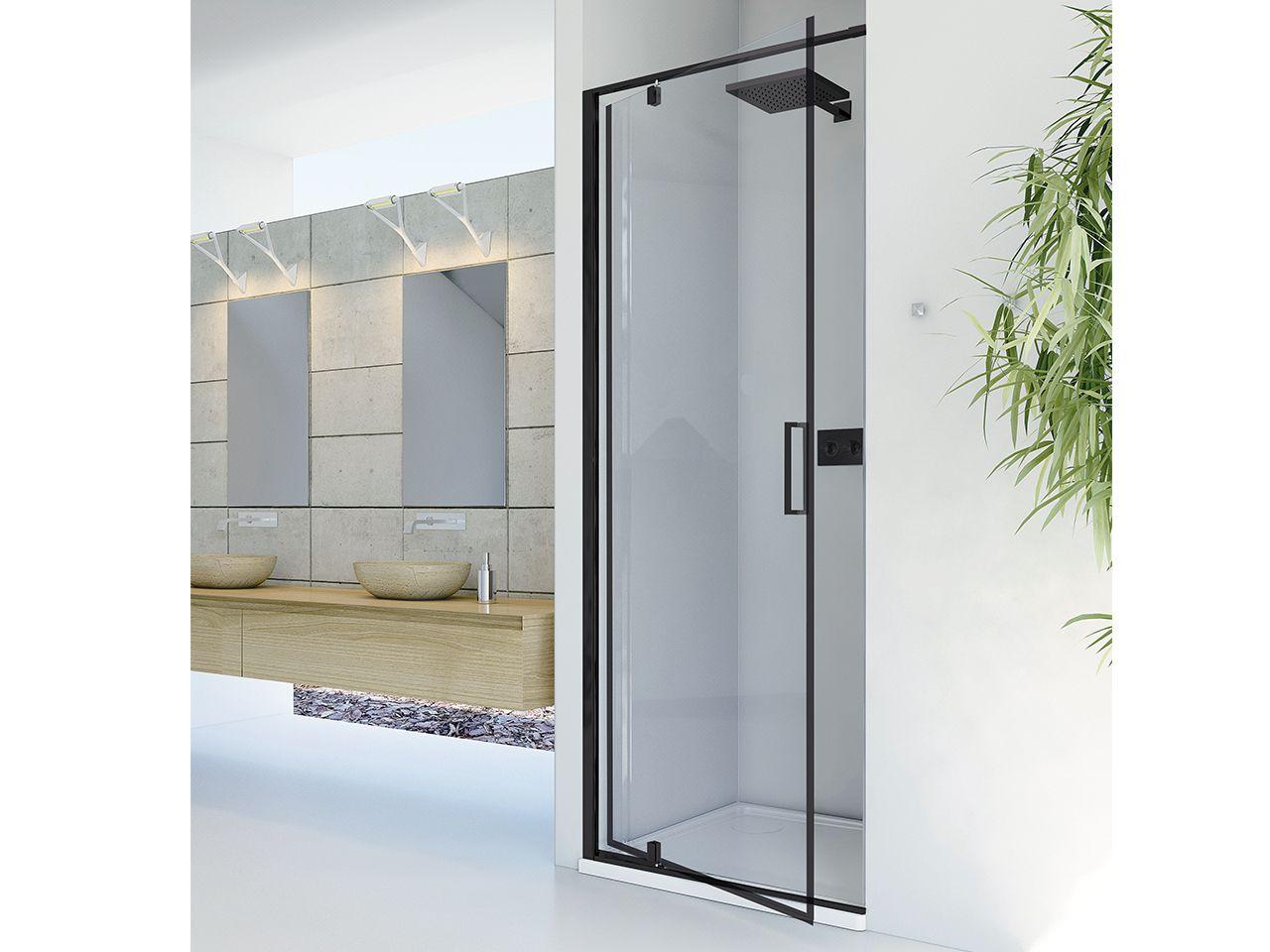 Dado porta doccia nicchia 100 h200 anta girevole sx trasp