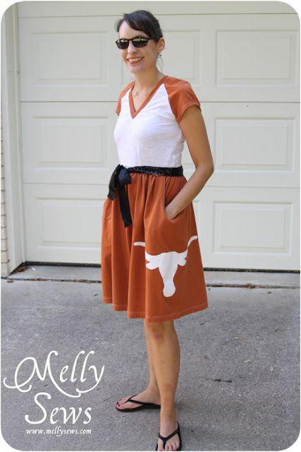 Longhorn Game Day Dress - Melly Sews