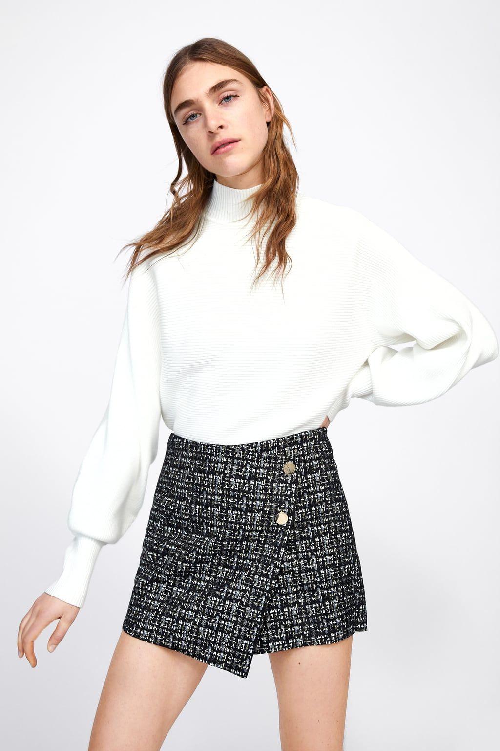 1afdb39ed0 Faux suede bermuda skort in 2019 | skorts/shorts/skirts | Suede mini ...