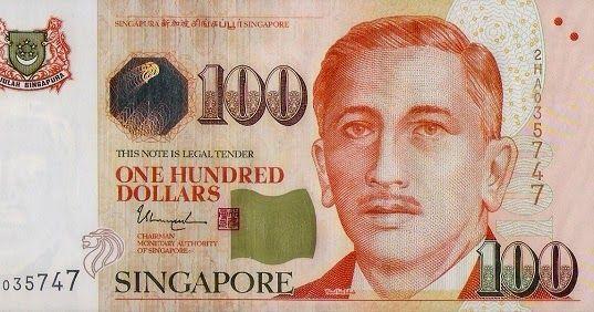 Matawang Singapore 100 Dollars Nama Mata Wang Singapore Dollar Singapore Map Singapore